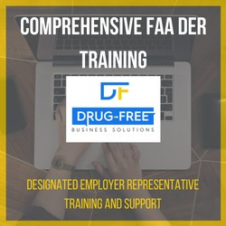 Comprehensive FAA DER Training CD Cover, with a laptop and hands as the background image.