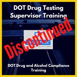 DOT Drug Testing Supervisor Training CD Cover