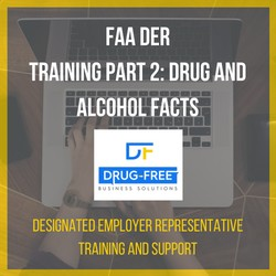 FAA DER Training Drug and Alcohol facts CD Cover, with a laptop and hands as the background image