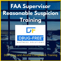 FAA Supervisor Reasonable Suspicion Training CD Cover