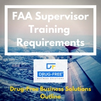 FAA Supervisor Training Requirements banner with a plane wing over a winter town