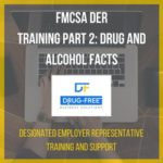 FMCSA DER Training Part 2: Drug and Alcohol Facts CD Cover, with a laptop and hands as the background image