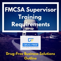 FMCSA Supervisor Training Requirements Banner with truck on a desert highway in the background