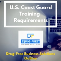 U.S. Coast Guard Training Requirements Banner with hands on a keyboard in background